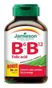 JAMIESON Vitaminy B6 B12+kyselina listova tbl.110 - 1