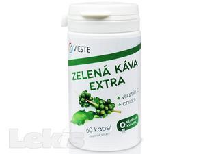 Vieste Zelená káva extra s vit.C s chrom. cps.60