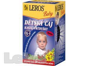 LEROS BABY Dětský čaj kašel a průdušky n.s20x1.5g