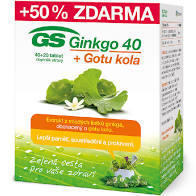 GS Ginkgo 40 + Gotu kola tbl. 40+20