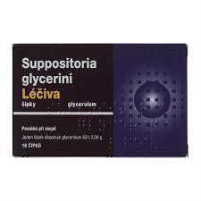 SUPPOSITORIA GLYCERINI LÉČIVA 2,06G SUP 10